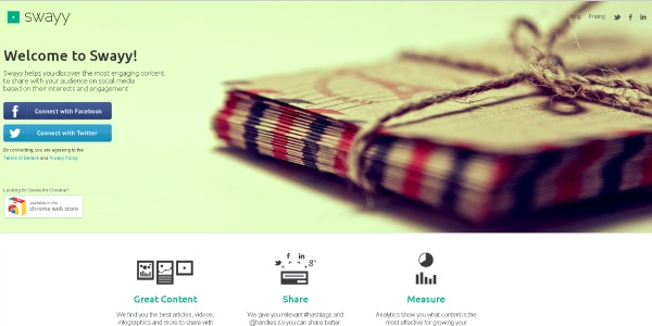 Content Discovery Tools - Swayy