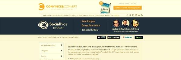 Social Pros Marketing Podcasts