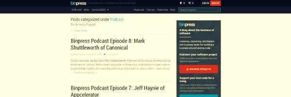 The Binpress Marketing Podcasts