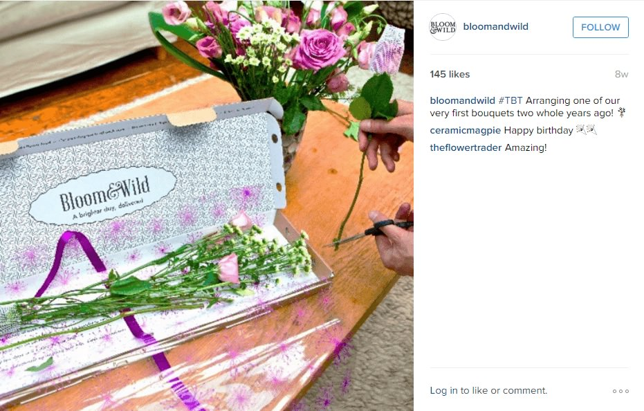 Bloom & Wild Instagram ads