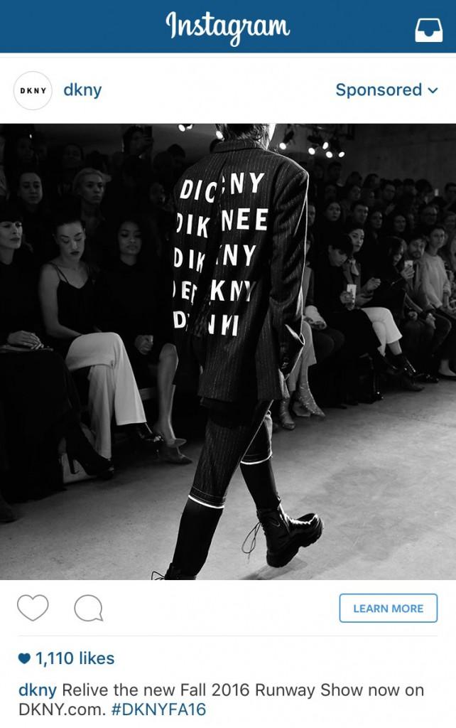 DKNY Photo Ad Instagram
