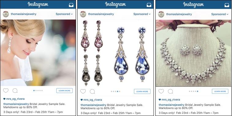 Thomas Laine Jewelry Carousel Ads Instagram