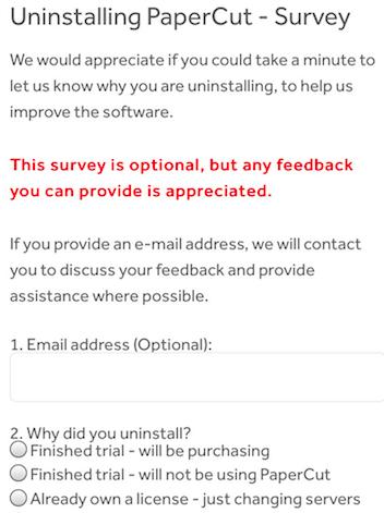 exit survey 11
