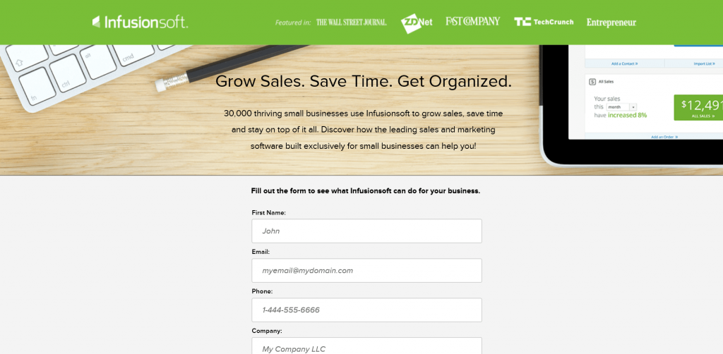 Image 6. Infusionsoft example drip email campaigns