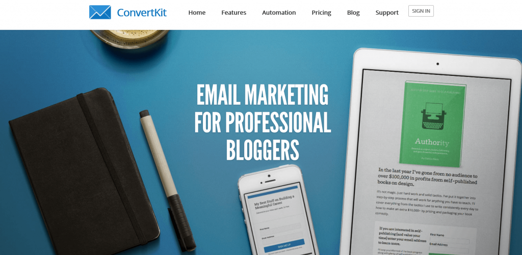 Image 7. Convertkit example drip email campaigns
