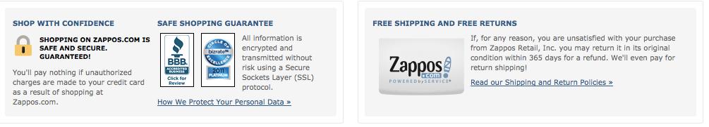 Zappos 2 Website