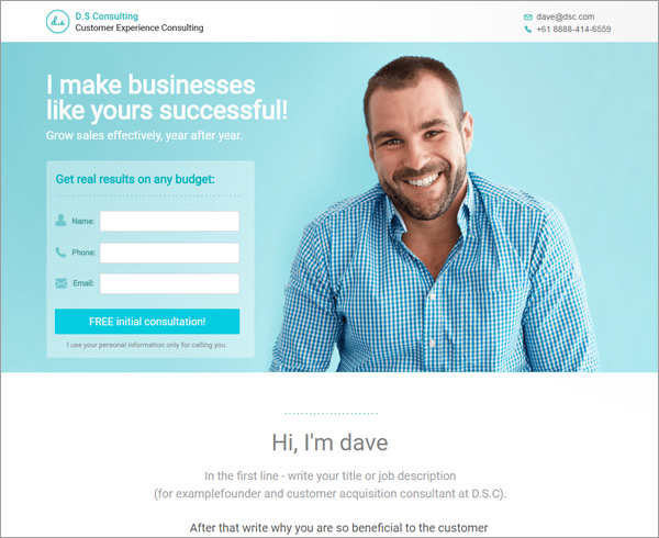 8 New Landing Page Templates for Consultants – A Detailed Review ...