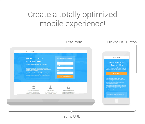 Optimized mobile-100 landing page