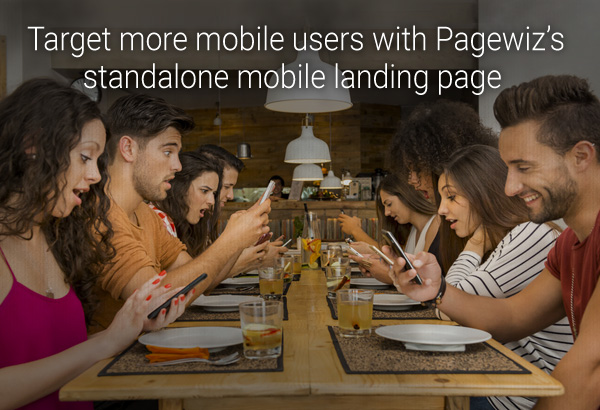 People-holding-phones landing page