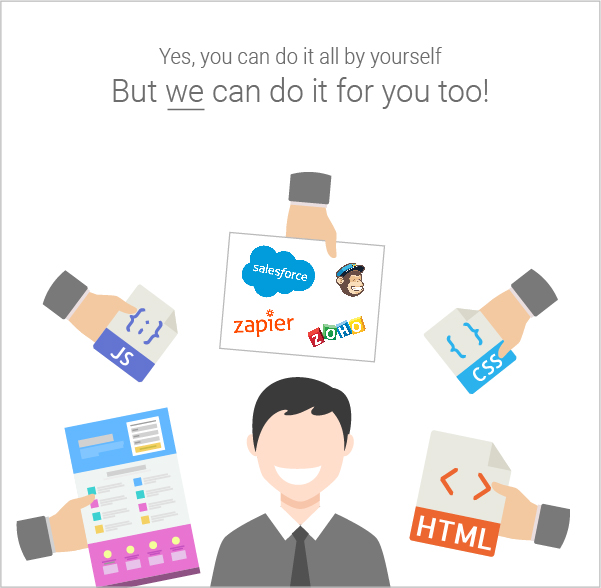 We do it for you-100 landing page