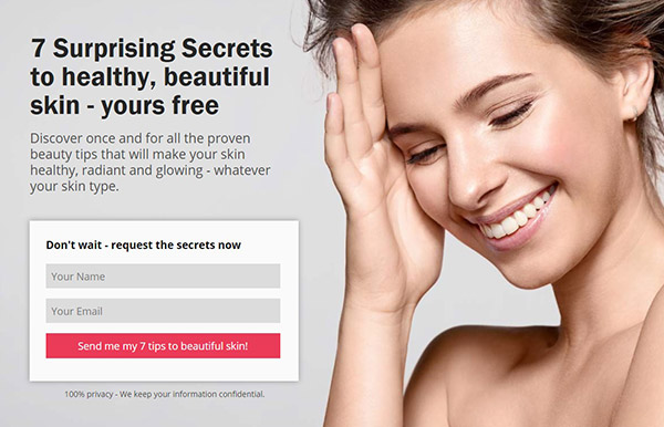 Beauty-Spa Pagewiz landing page template image