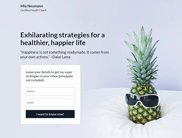 Health-Coach landing page template