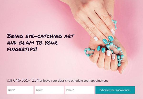 Nail-Art-Studio Pagewiz landing page template image