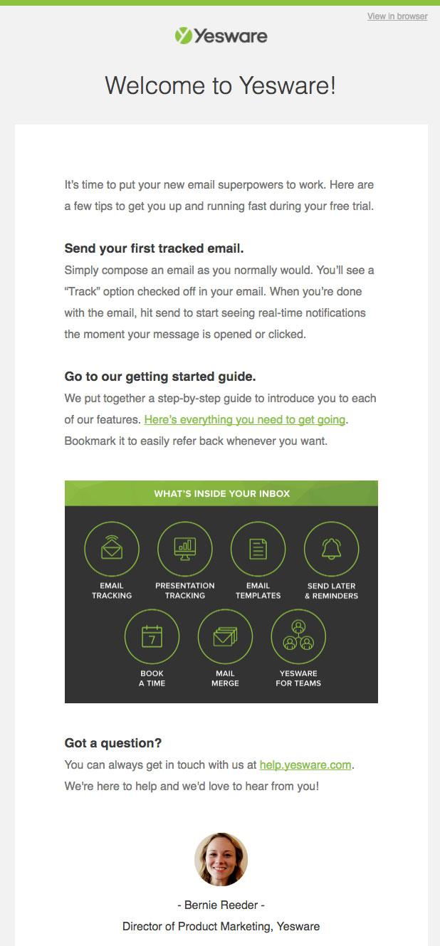 Landing Pages Yesware