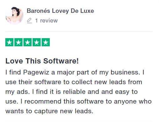 Pagewiz review - barones lovey de luxe